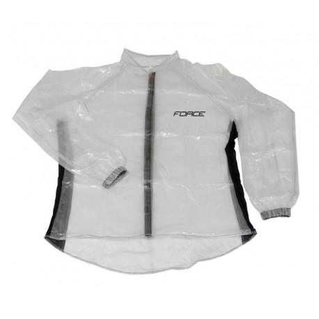 pláštěnka FORCE PVC, čirá, suchý zip